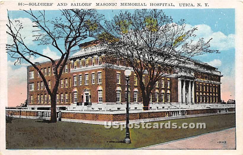 Masonic Memorial Hospital - Utica, New York NY Postcard