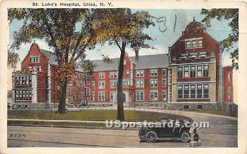 St. Luke's Hospital - Utica, New York NY Postcard
