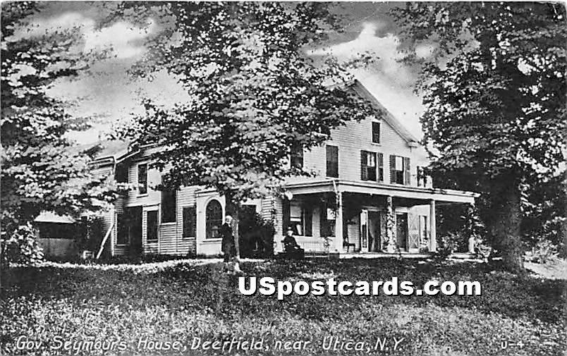 Deerfield, Govv. Seymours House - Utica, New York NY Postcard