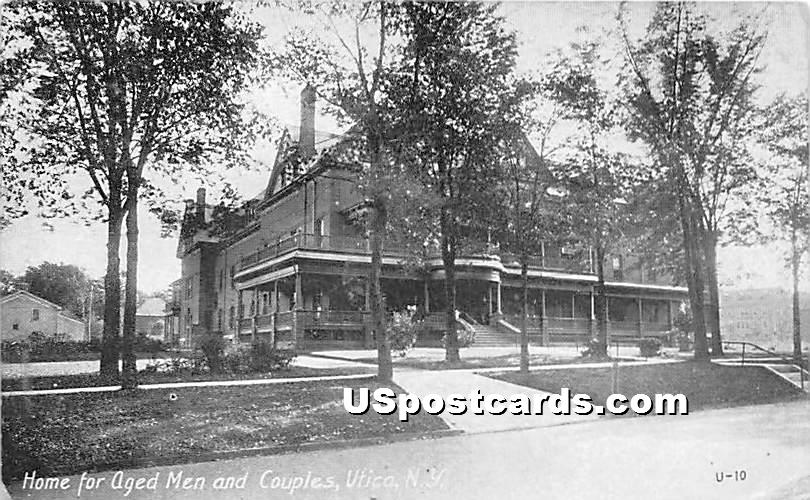 Home for Aged Men & Couples - Utica, New York NY Postcard