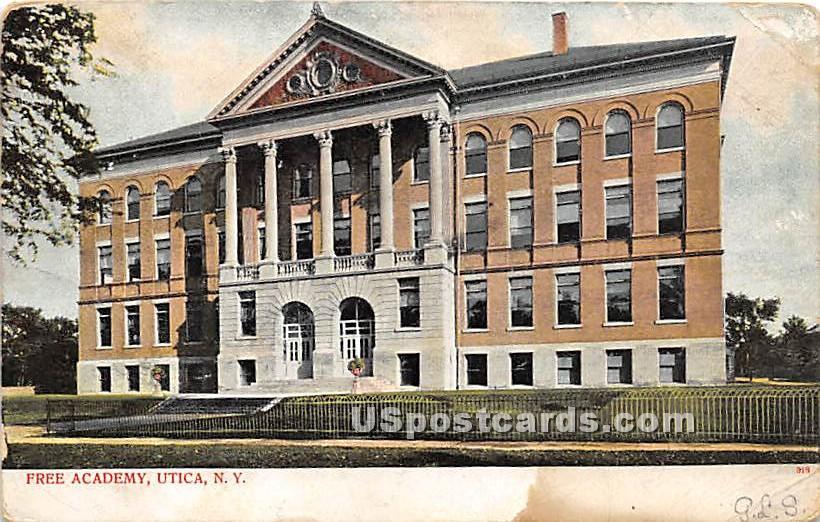Free Academy - Utica, New York NY Postcard