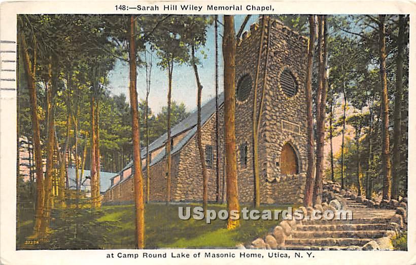 Sarah Hill Wiley Memorial Chapel - Utica, New York NY Postcard