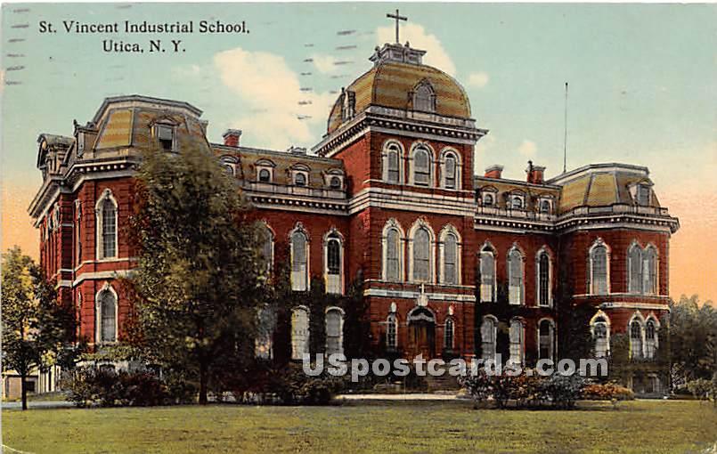 St. Vincent Industrial School - Utica, New York NY Postcard