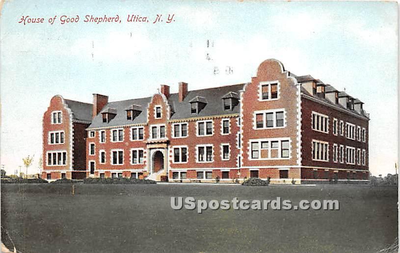 House of Good Shepherd - Utica, New York NY Postcard
