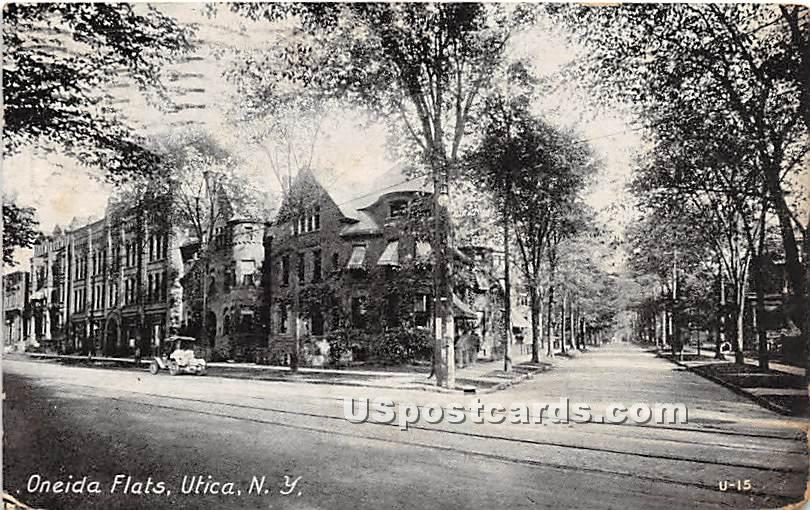 Oneida Flats - Utica, New York NY Postcard