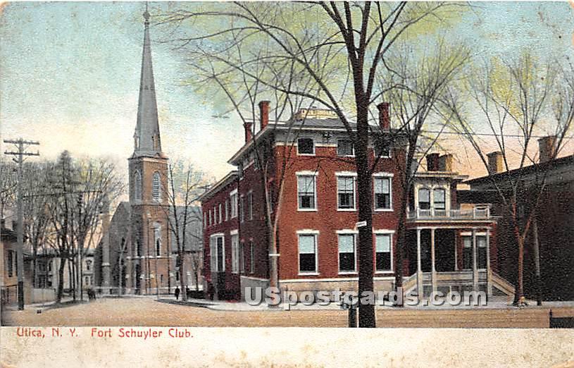 Fort Schuyler Club - Utica, New York NY Postcard