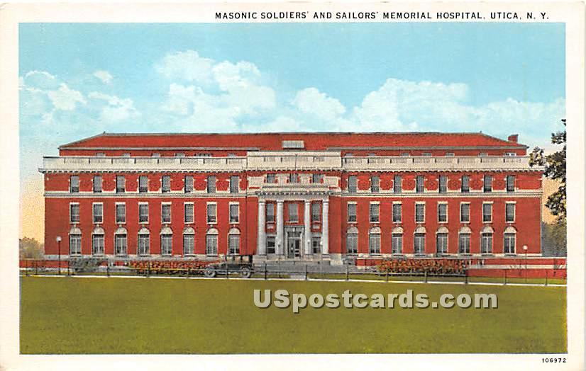 Sailors' Memorial Hospital - Utica, New York NY Postcard