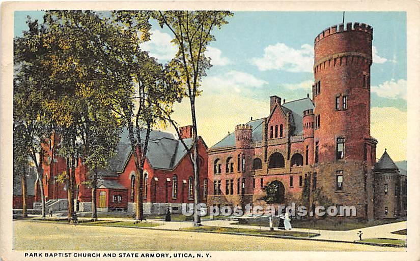 Park Baptist Church - Utica, New York NY Postcard