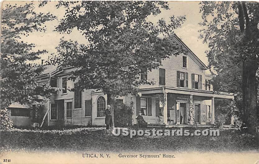 Governor Seymours' Home - Utica, New York NY Postcard