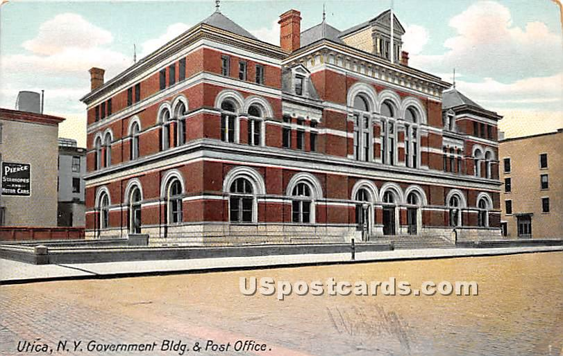 Gove. Bldg & Post Office - Utica, New York NY Postcard