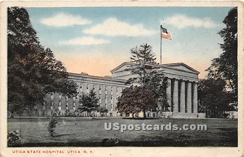 Utica State Hospital - New York NY Postcard