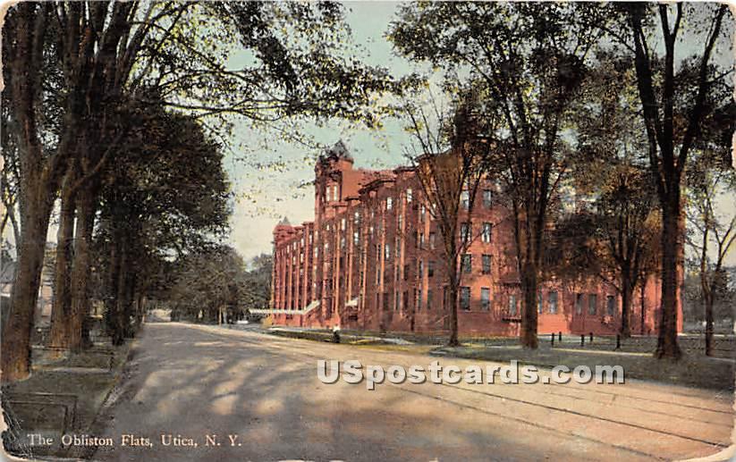 The Obliston Flats - Utica, New York NY Postcard