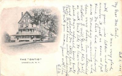 The Ontio Unadilla, New York Postcard