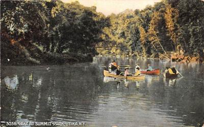 Lake at Summit Park  Utica, New York Postcard