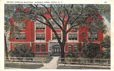 Knight Templar Building Utica, New York Postcard