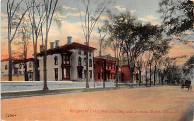 Knights of Columbus Building Utica, New York Postcard