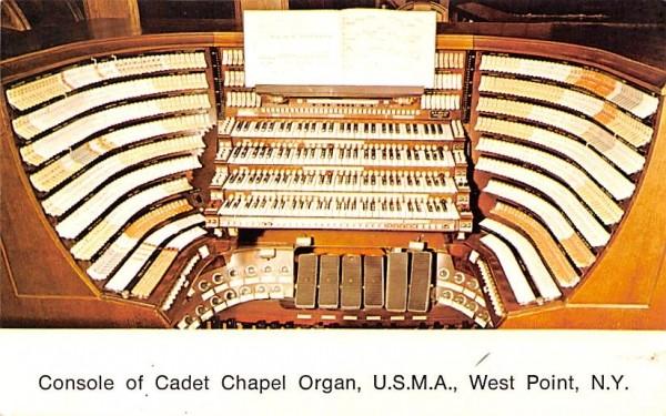 Console Cadet Chapel Organ West Point, New York Postcard