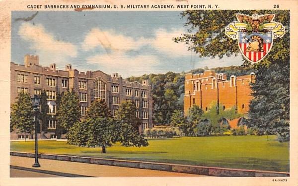 Cadets' Barracks & Gymnasium West Point, New York Postcard