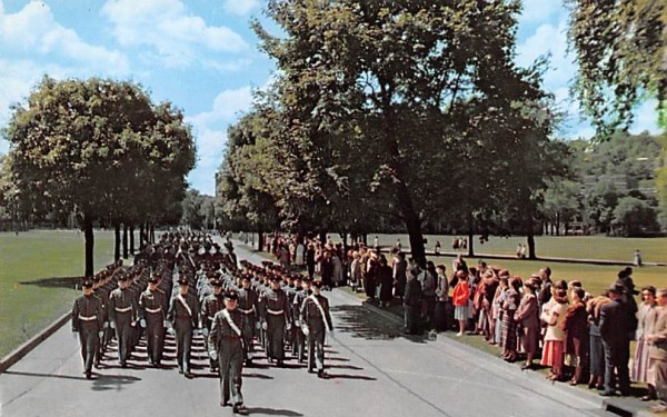 Cadet Corps Marching West Point, New York Postcard