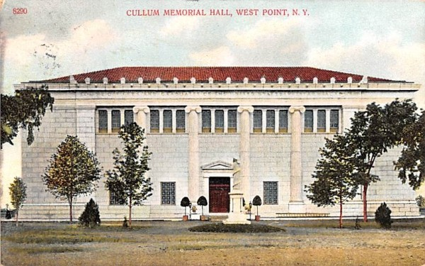 Cullum Memorial Hall West Point, New York Postcard