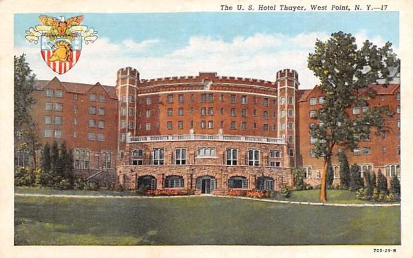 US Hotel Thayer West Point, New York Postcard