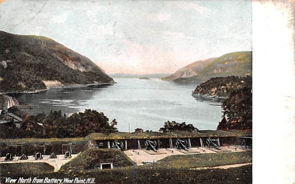 North from Battery West Point, New York Postcard