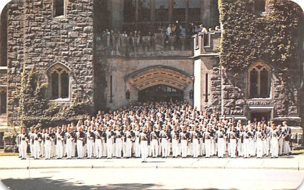 Cadets in Front of Washington Hall West Point, New York Postcard