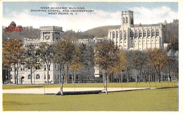 West Academic Building West Point, New York Postcard