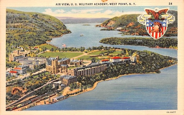 Air View West Point, New York Postcard
