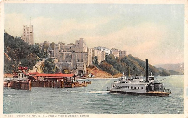 From the Hudson River West Point, New York Postcard