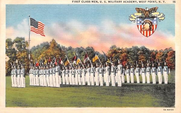 First Class Men West Point, New York Postcard