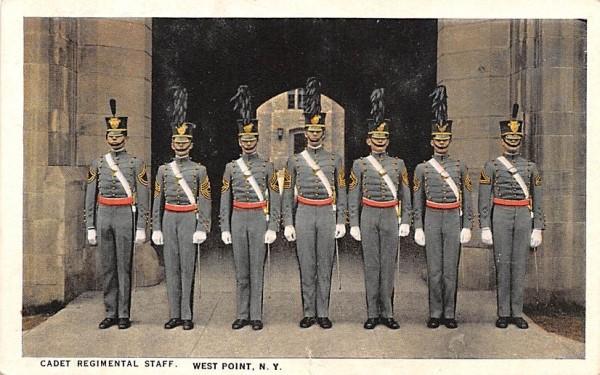 Cadet Regimental Staff West Point, New York Postcard