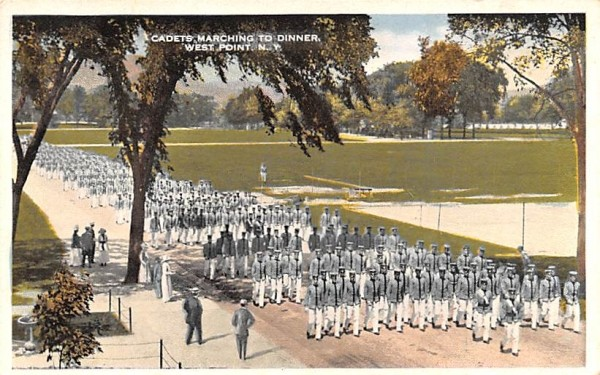 Cadets Marching to Dinner West Point, New York Postcard
