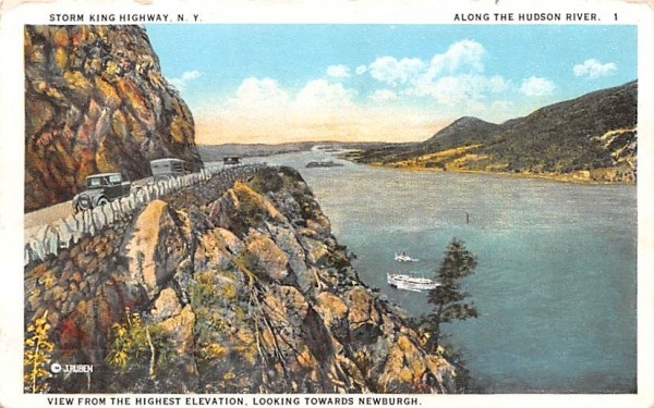 Storm King Highway West Point, New York Postcard