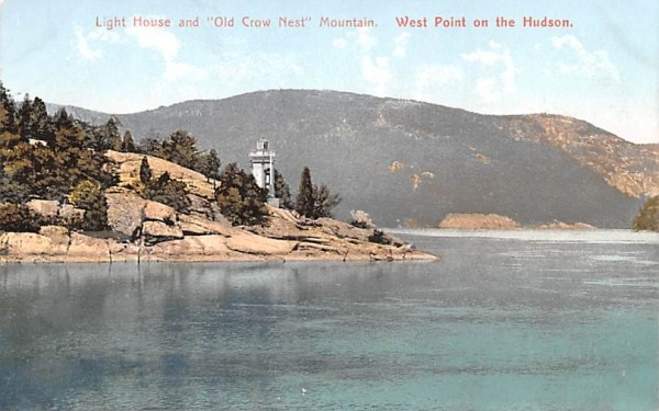 Light House & Old Crow Nest Mountain West Point, New York Postcard