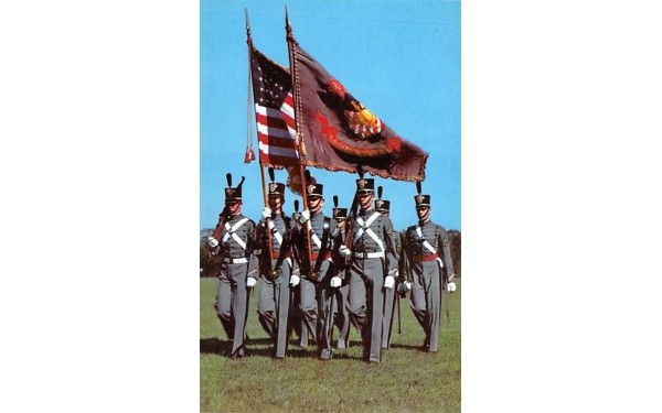Cadet Colors & Guards West Point, New York Postcard