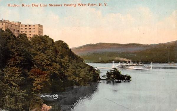 Hudson River Day Line Steamer West Point, New York Postcard