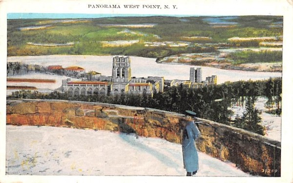 Panorama West Point, New York Postcard