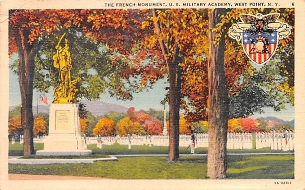 French Monument West Point, New York Postcard
