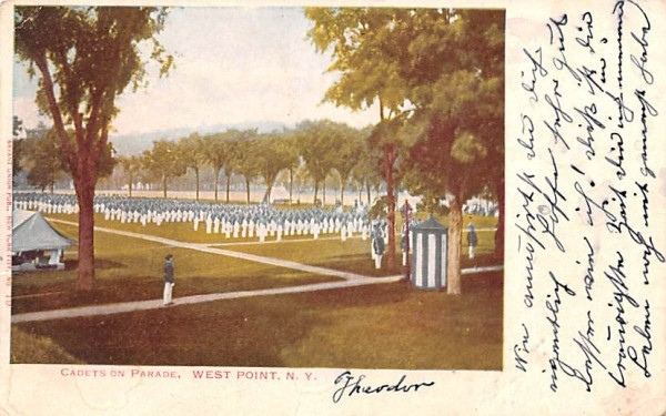Cadets on Parade West Point, New York Postcard