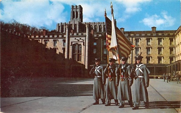 Color Guard of Cadets West Point, New York Postcard