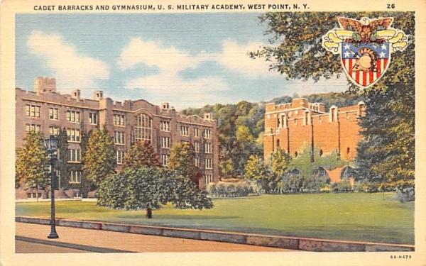 Cadet Barracks & Gymnasium West Point, New York Postcard