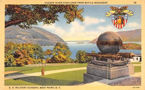 Hudson River Highlands from Battle Monument West Point, New York Postcard
