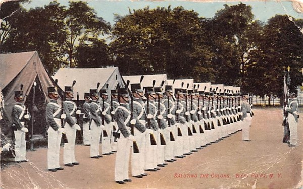 Saluting the Colors West Point, New York Postcard