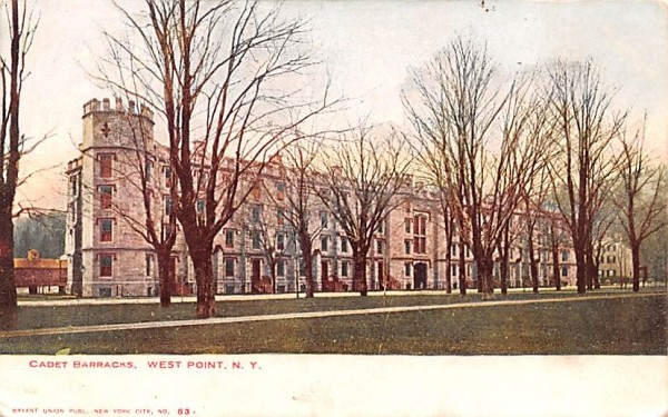 Cadet Barracks West Point, New York Postcard