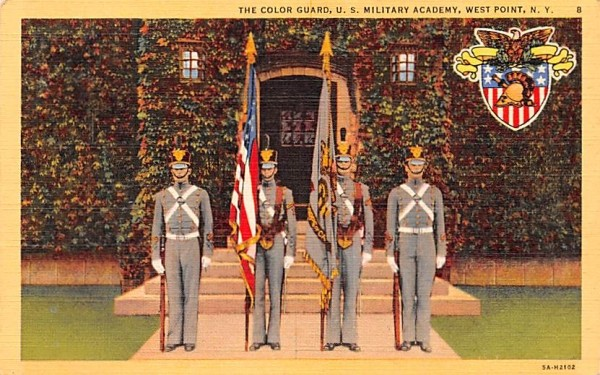Color Guard West Point, New York Postcard
