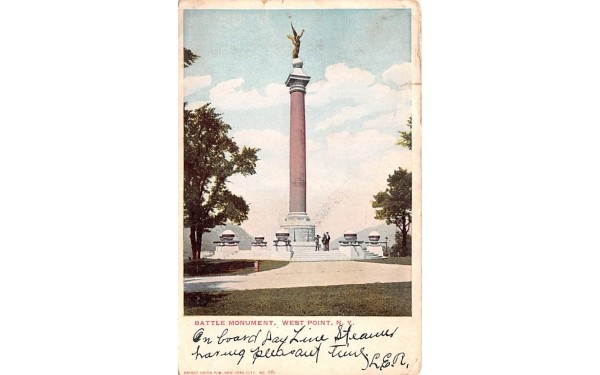 Battle Monument West Point, New York Postcard