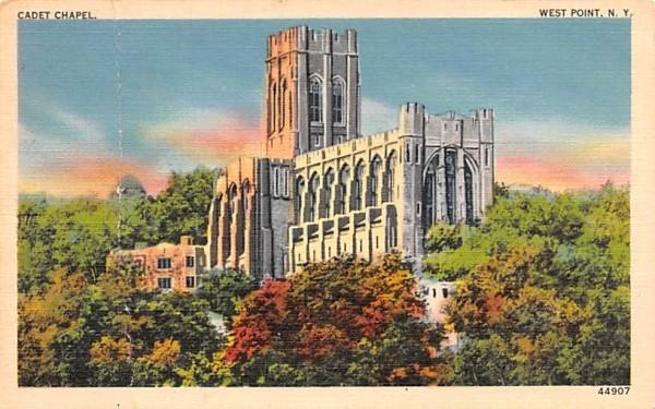 Cadet Chapel West Point, New York Postcard