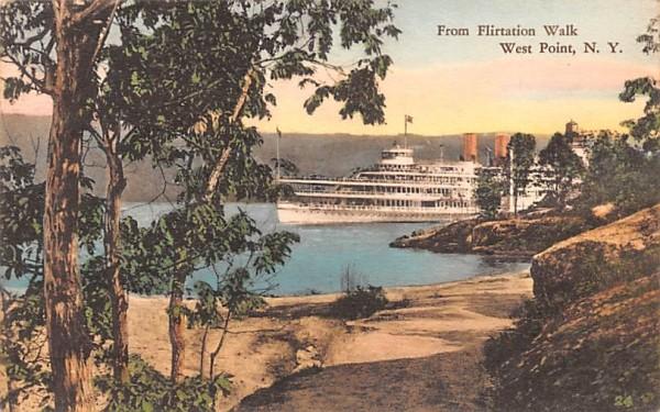 From Flirtation Walk West Point, New York Postcard