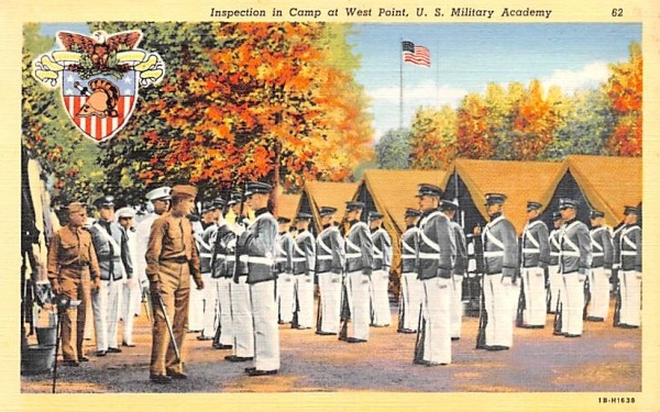 Inspection in Camp West Point, New York Postcard